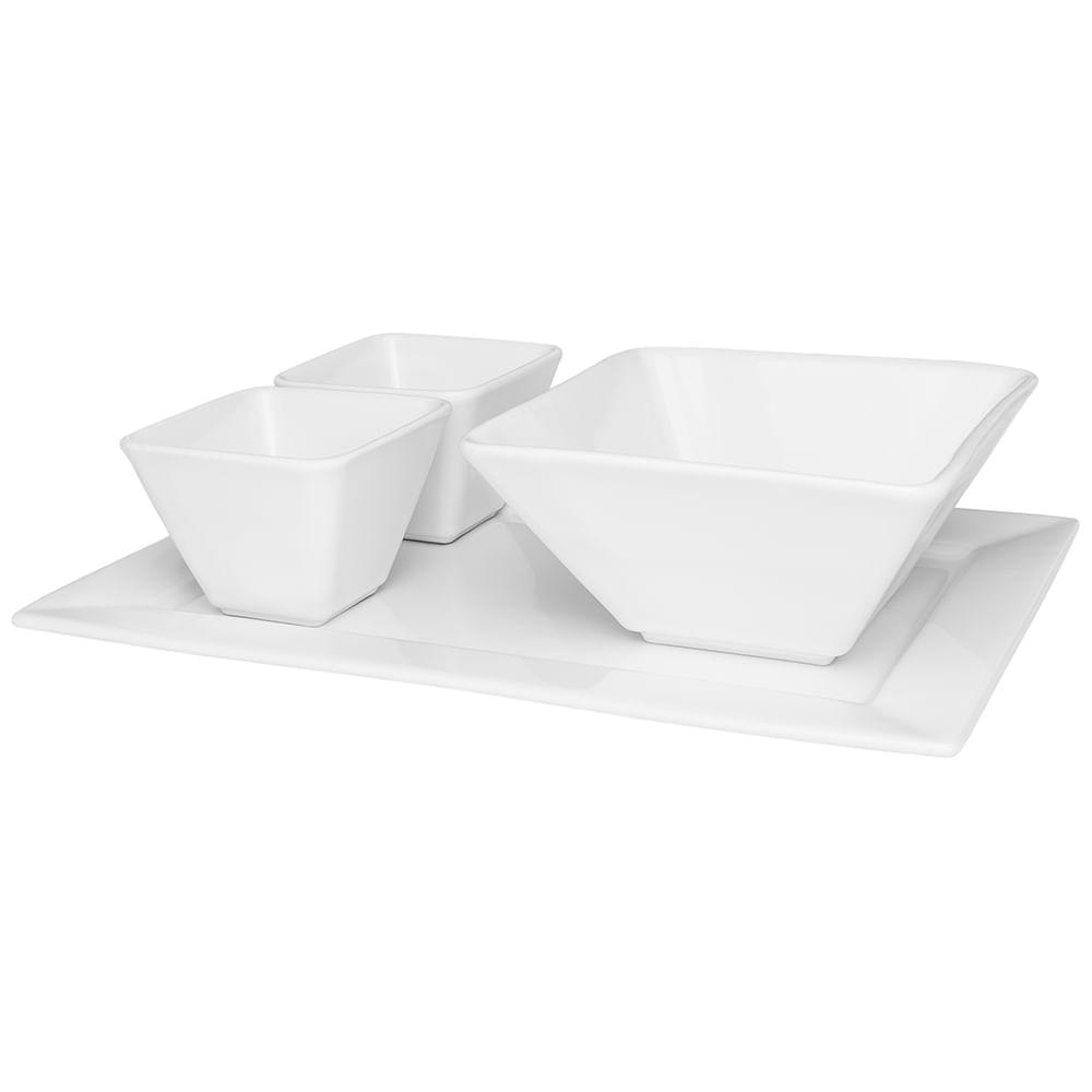 Petisqueira 4pçs - Branca - Oxford Porcelanas - Oxford Porcelanas 3aa51a5c728f8