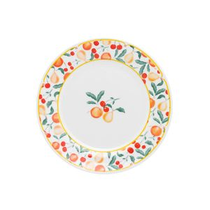 Oxford_Porcelanas_Famingo_Fruits_Prato_Sobremesa