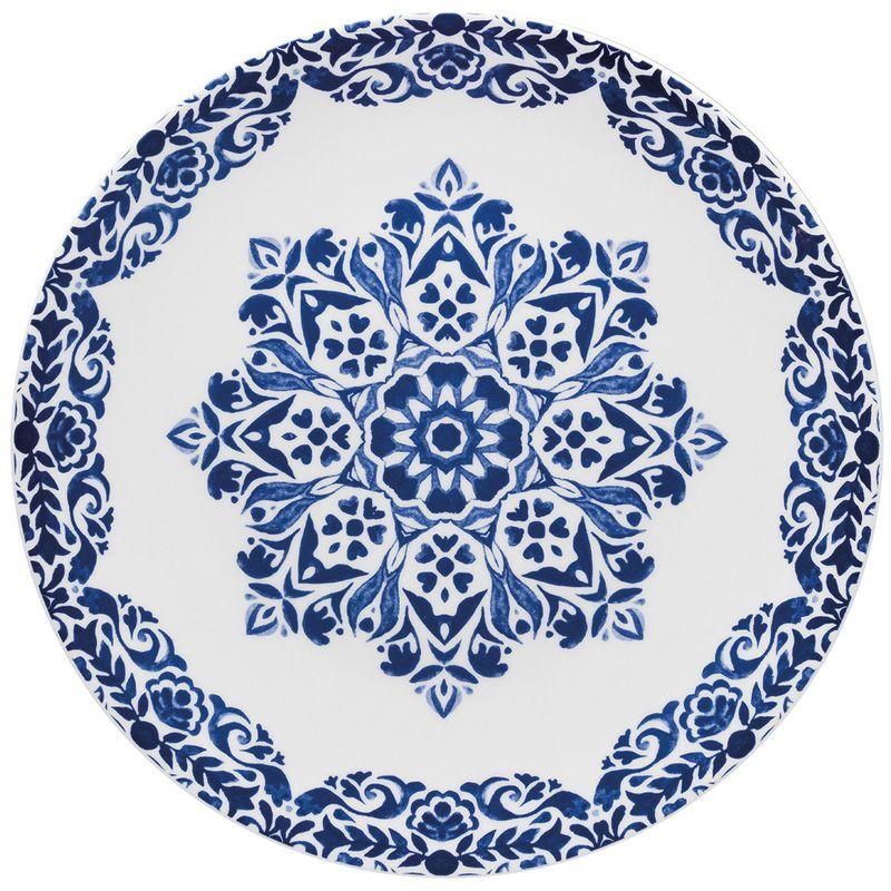 1-Cj.-C---06-Pratos-Rasos-28Cm---Mail-Order---Blue-Indian---Em12-4686